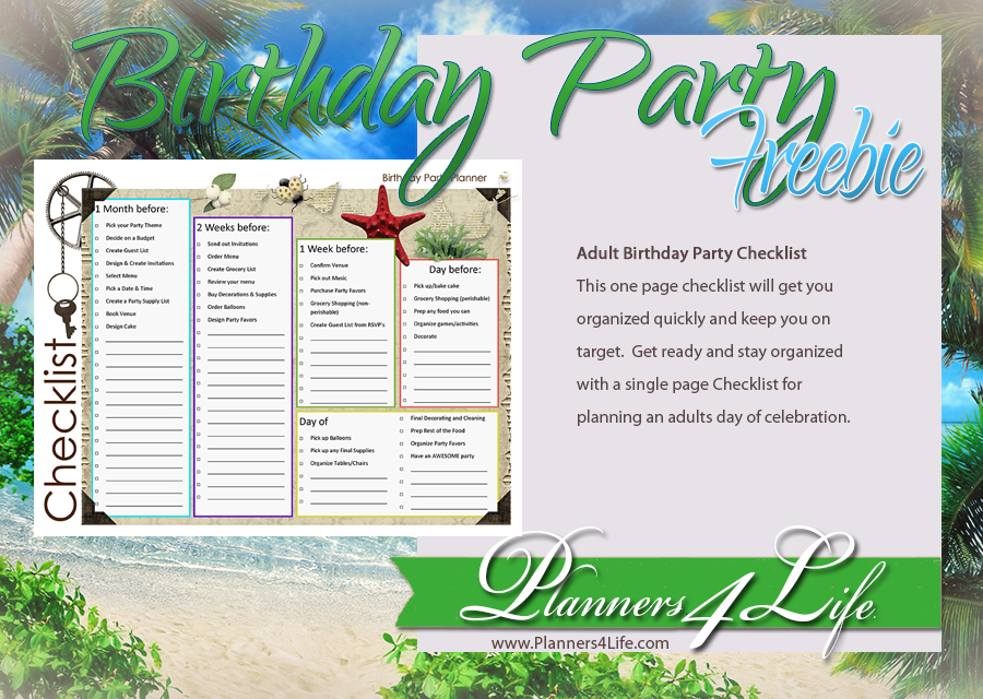 Still variants? Adult birthday party planner opinion