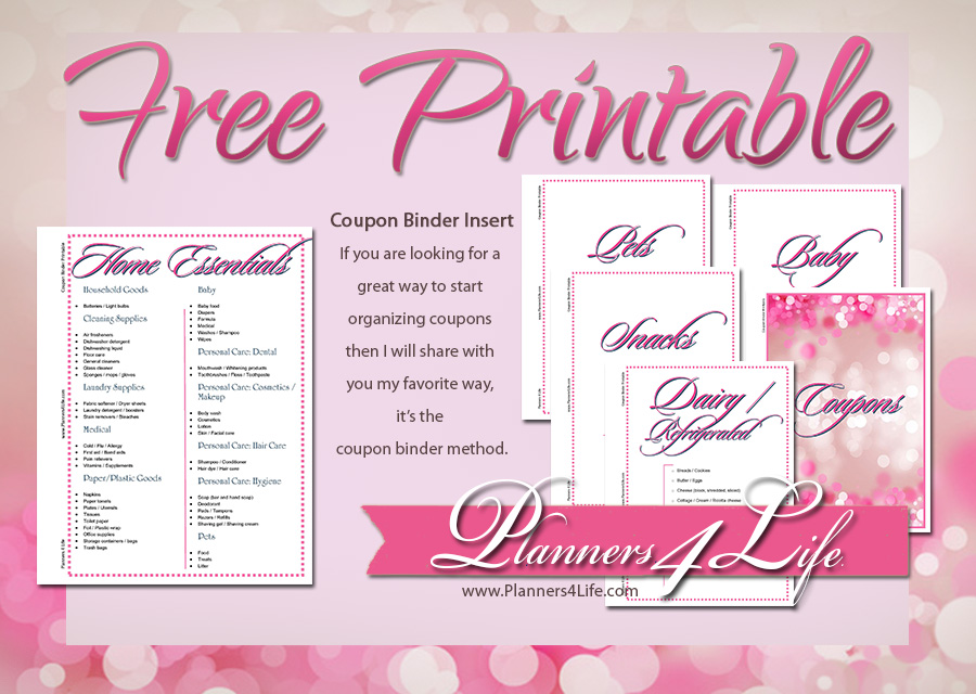 graphic about Printable Binder Inserts identify All the things Else: Coupon Binder Inserts - Purple