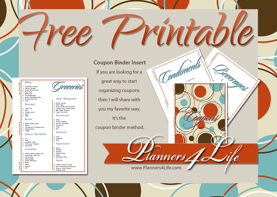 picture relating to Coupon Binder Printable referred to as Freebies: Coupon Binder Inserts - Retro